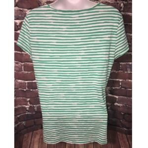 Ann Taylor Tops - Ann Taylor Blouse Size L Short Sleeve Striped